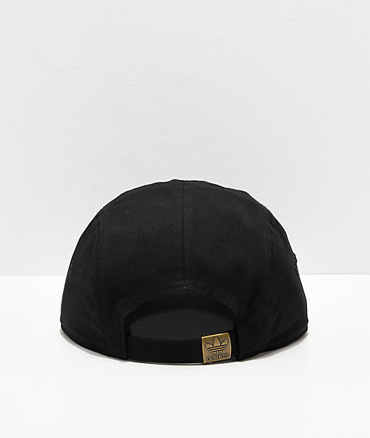 adidas Originals Black & White 5 Panel Strapback Hat