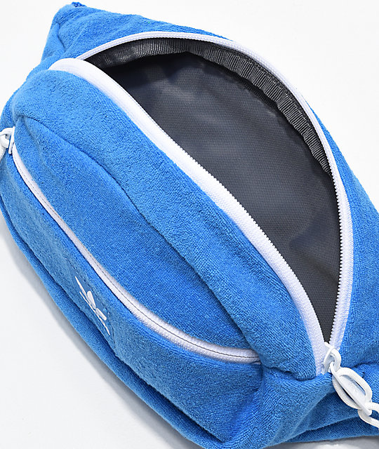 27335454c20 adidas Originals Blue French Terry Fanny Pack | Zumiez