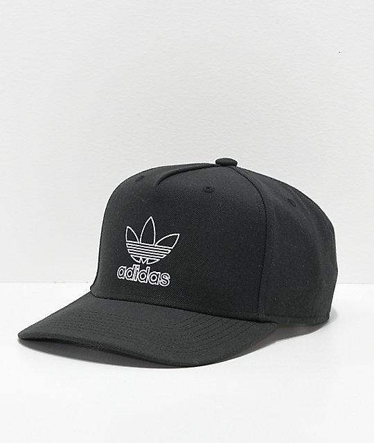 adidas Originals Dart Pre-Curve Black Snapback Hat  531accbda80