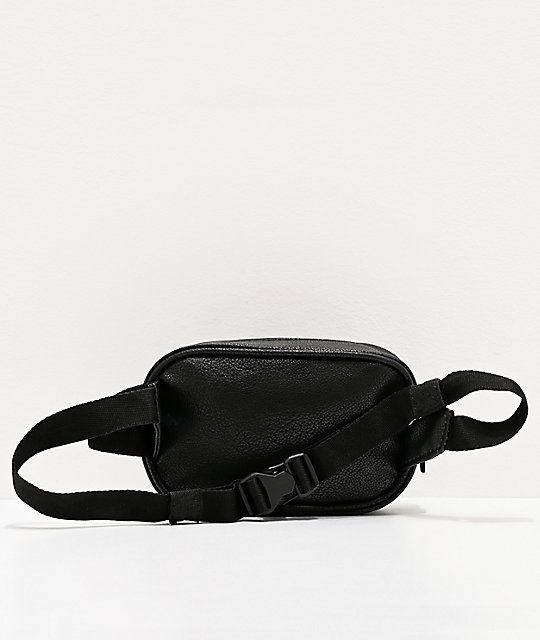 adidas Originals Faux Leather Black Fanny Pack