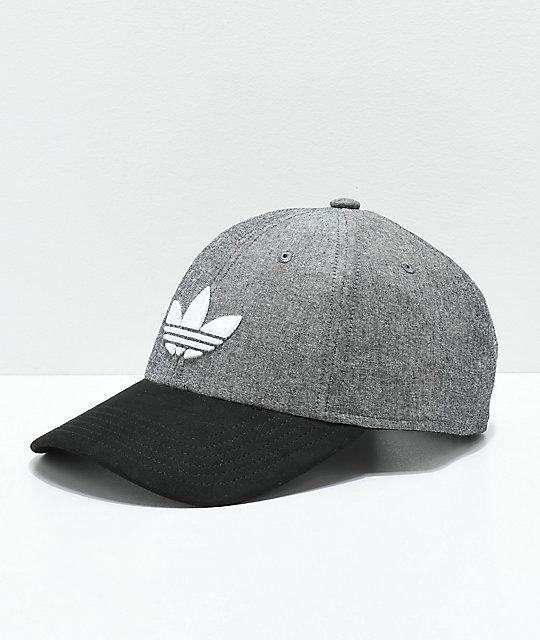 adidas Originals Grey   Black Snapback Hat  dd80e9ee72cd