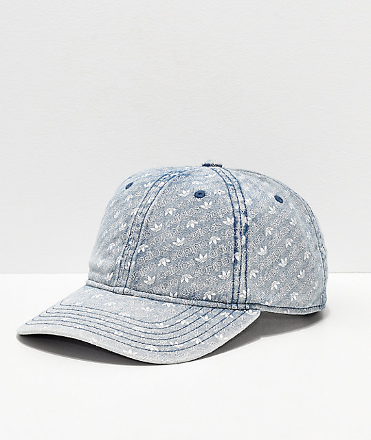 93ac23492aaf5 adidas Originals Monogram Denim Strapback Hat