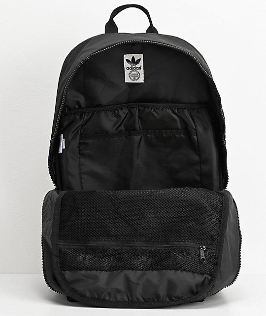 2b9ae4dd22 adidas Originals National 3 Stripe Black Backpack