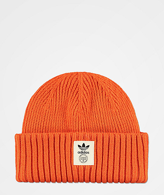adidas Originals Orange   Off-White Beanie  e6f02ca68c98