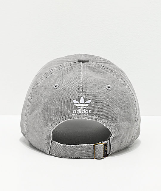 adidas Originals Relaxed Light Grey Strapback Hat