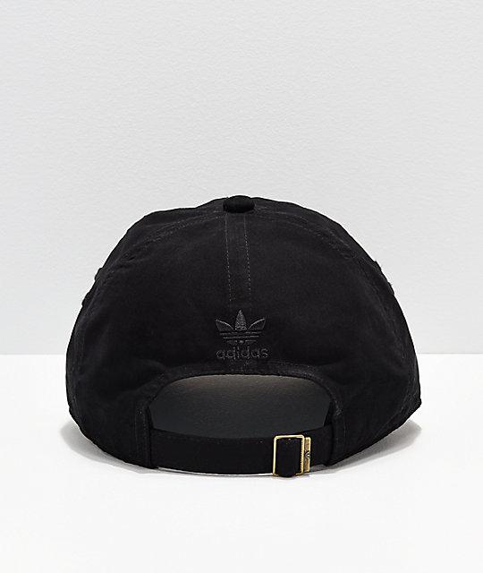8ab09275907 ... adidas Originals Relaxed Metal Black   Gold Strapback Hat ...