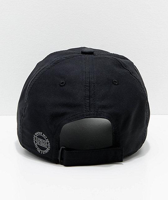 ... adidas Originals Relaxed Modern Black Strapback Hat ... c1a1d41400c