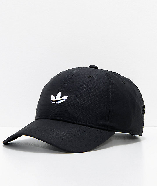 low priced ccab6 ad5e7 adidas Originals Relaxed Modern Black Strapback Hat   Zumiez