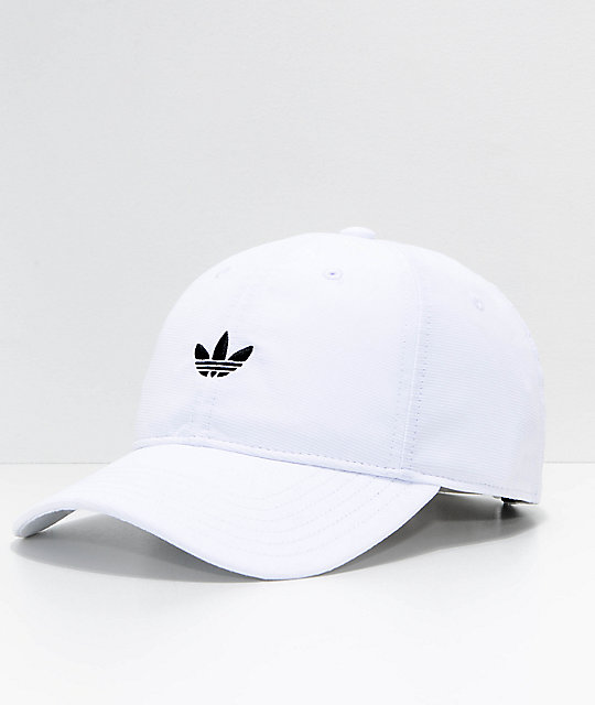 1055046481 adidas Originals Relaxed Modern White Strapback Hat