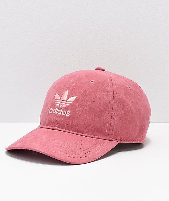 ed52f984123 adidas Originals Relaxed Plus Maroon   Coral Strapback Hat