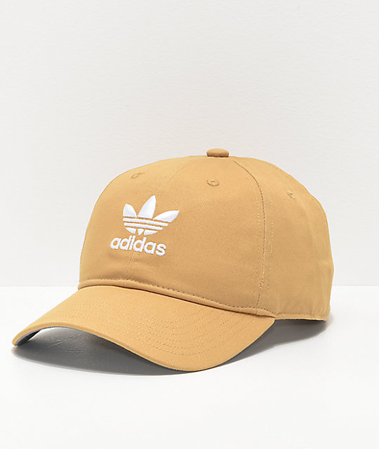 f27f520bc6b adidas Originals Relaxed Raw Sand Strapback Hat