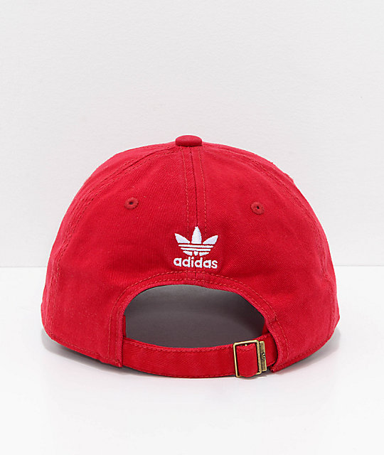 adidas Originals Relaxed Red Strapback Hat