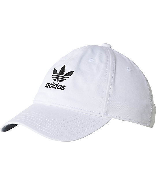 adidas Originals Relaxed Strapback White Hat