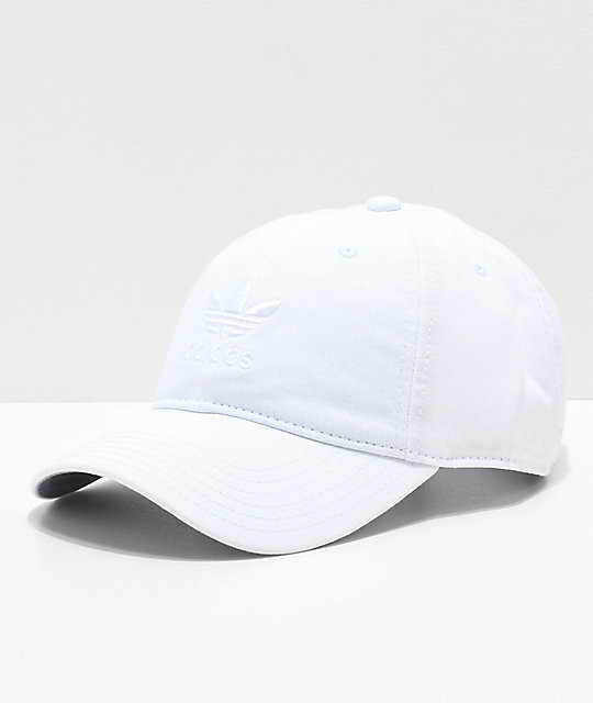 826f97bacb484 adidas Originals Relaxed White Strapback Hat
