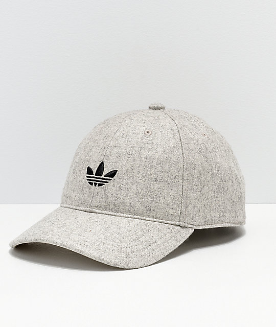 adidas Originals Relaxed Wool Heather Strapback Hat  685c9bf69322