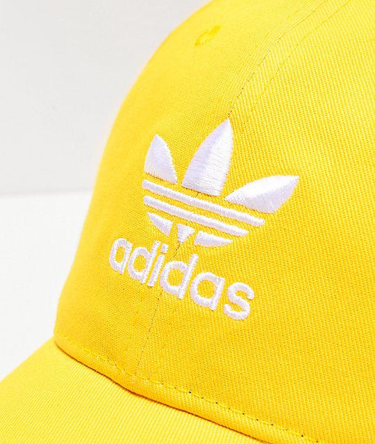 adidas Originals Relaxed Yellow Strapback Hat