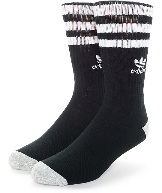 adidas Originals Roller Black   White Crew Socks 94e51c969