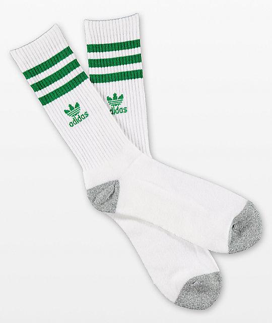 95d314ae5 adidas Originals Roller White   Fairway Green Crew Socks