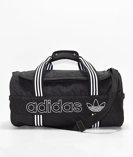 42009b06381 adidas Originals Spirit Roll Black Duffel Bag | Zumiez