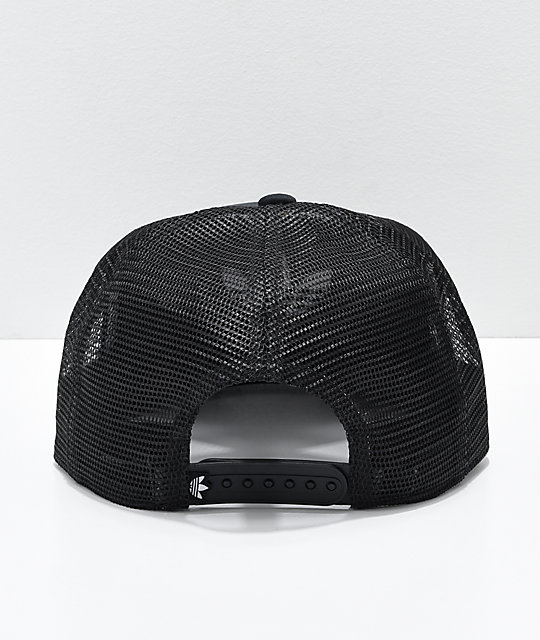 ... adidas Originals Trefoil Black   White Trucker Hat ... 994e2ee2a03