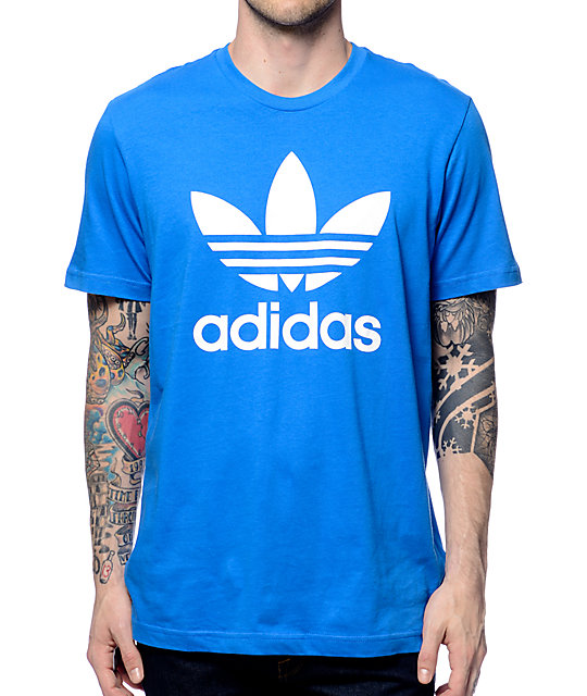 adidas Originals Trefoil Blue T-Shirt | Zumiez