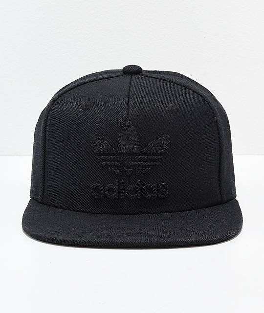 adidas Originals Trefoil Chain Black & Black Snapback Hat