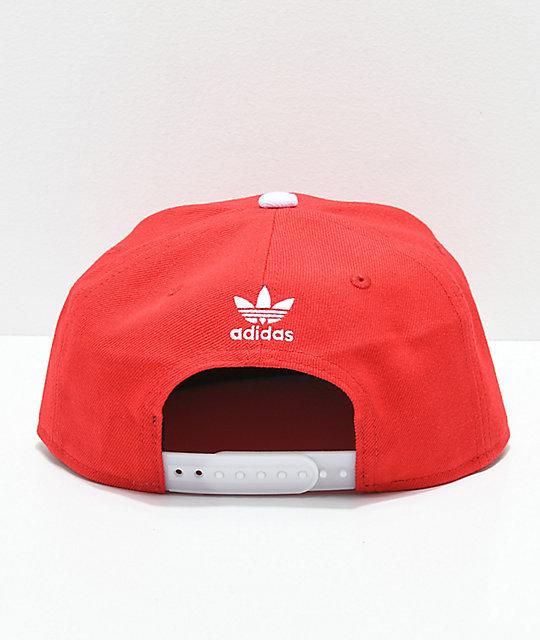 1c04002f3edc8 ... adidas Originals Trefoil Chain Scarlet Snapback Hat ...