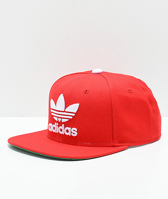 8d7098b15da8d ... usa adidas originals trefoil chain scarlet snapback hat b4369 21d85
