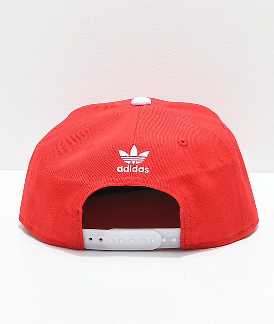adidas Originals Trefoil Chain gorra escarlata