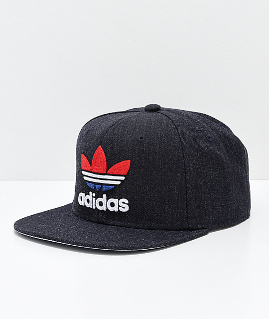 adidas Originals Trefoil Grey, Red & Blue Snapback Hat