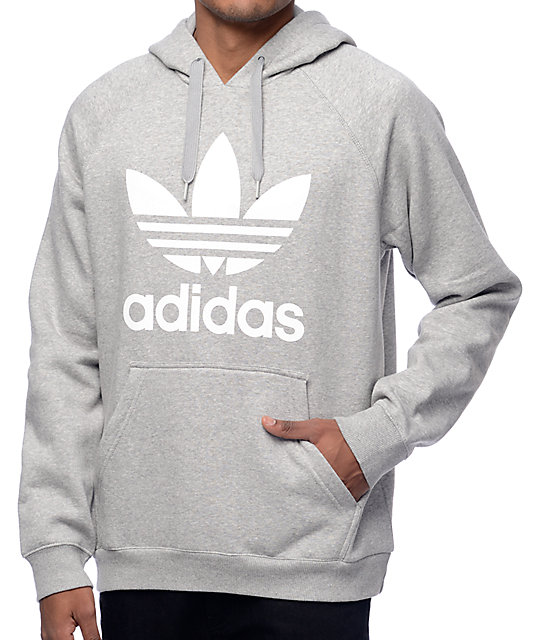 adidas hoodie mens grey