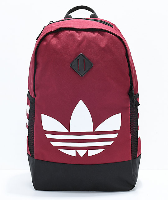 adidas-originals-trefoil-red-backpack by adidas