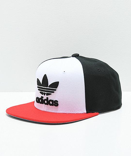 01f66c4e03570 ... switzerland adidas originals trefoil white black red snapback hat df7fa  b0950