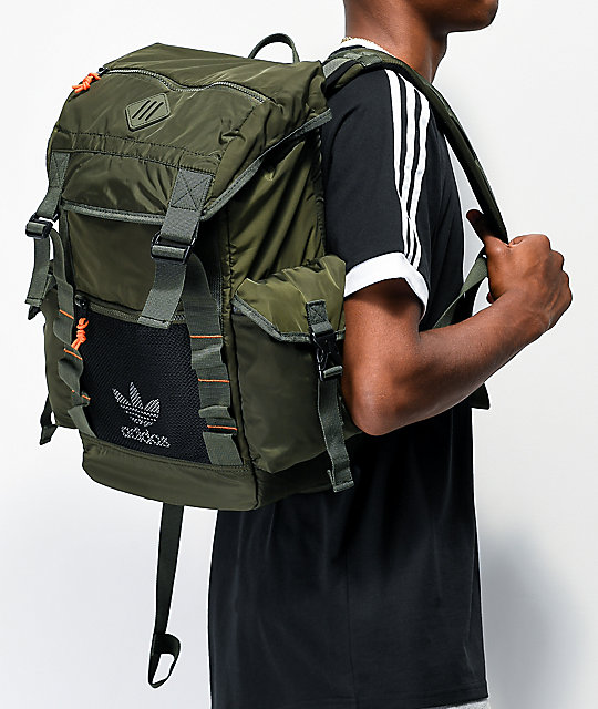 wide varieties on feet at huge selection of adidas Originals Urban Utility 2 Dark Green Backpack | Zumiez