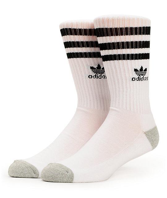 Adidas Originals White Black Crew Socks Zumiez