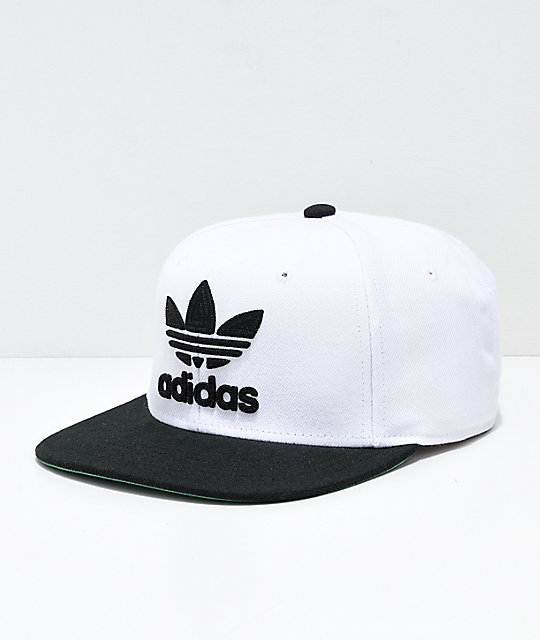 d0b0dce6 adidas Originals White & Black Snapback Hat | Zumiez