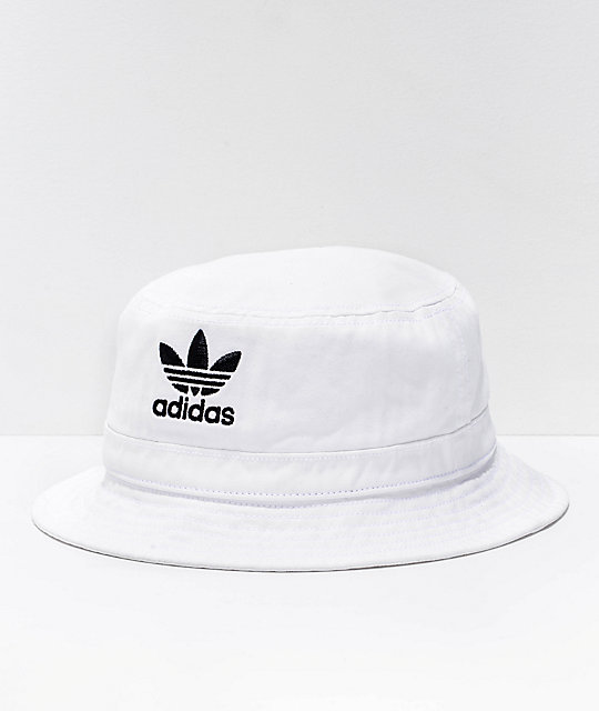 575b1281613 adidas Originals White Denim Bucket Hat