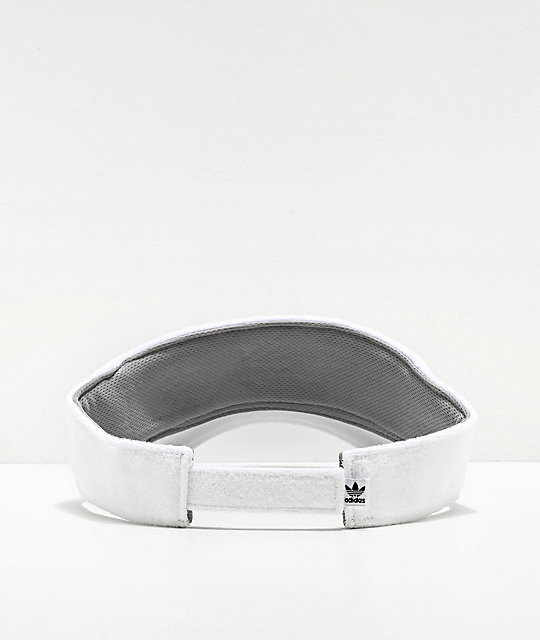 adidas Originals White French Terry Visor