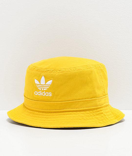 404a2b5ba6 adidas Originals Yellow & White Bucket Hat
