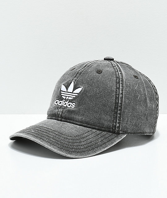 adidas Originals gorra negra y blanca para mujeres ... 32da7f8aa0d