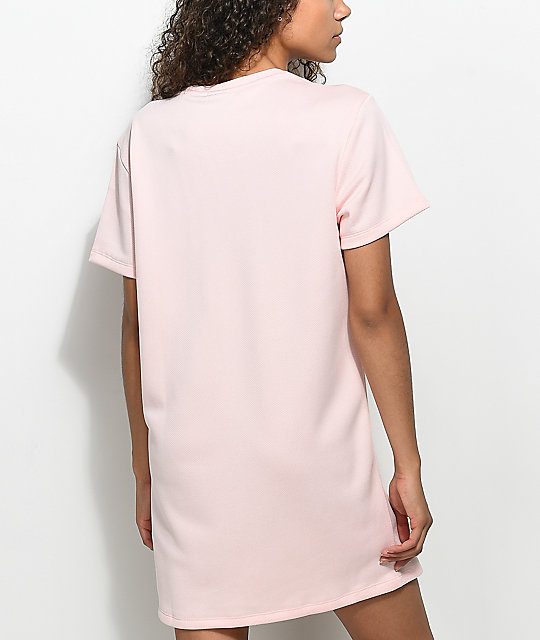 5e6d7fe83689 ... adidas Pale Pink Trefoil Tee Dress ...