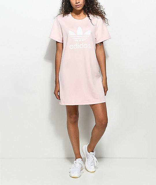 c91c8d0b72d5 ... adidas Pale Pink Trefoil Tee Dress ...