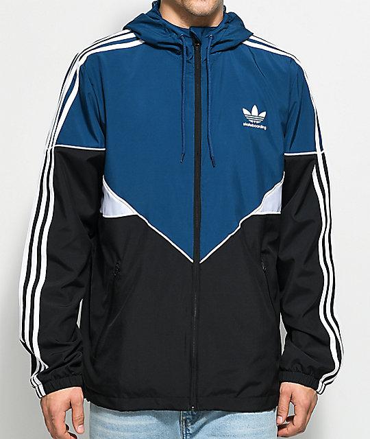 blue and white adidas jacket