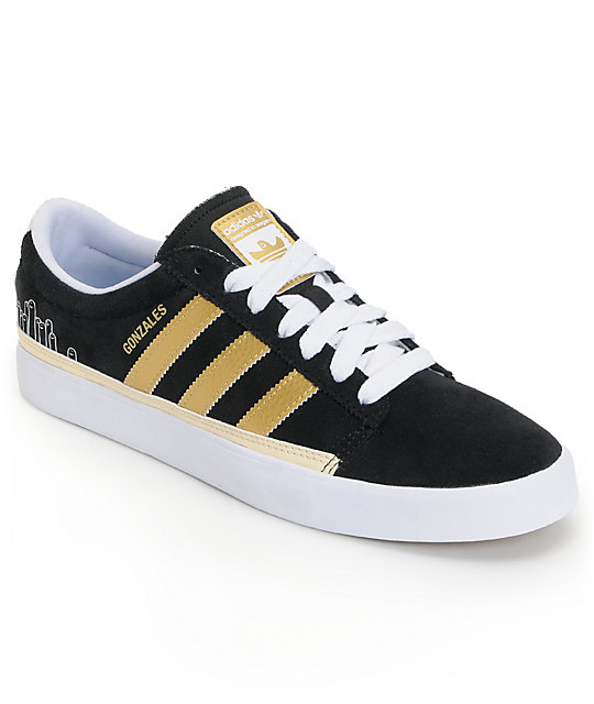 adidas Rayado Low Black & Gold Shoes