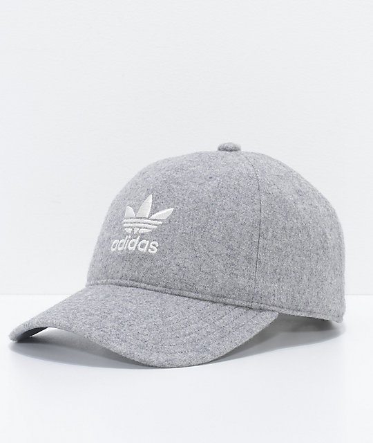 c2bd3362eb2 adidas Relaxed Grey Wool Dad Hat