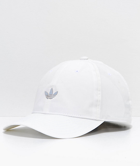 low priced 94571 b7bcc adidas Relaxed Modern II White Strapback Hat   Zumiez