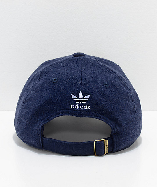 ... adidas Relaxed Navy Wool Dad Hat ... bc784f1de7fc