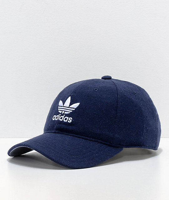 640f326b5caef adidas Relaxed Navy Wool Dad Hat