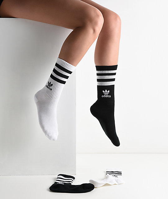 adidas Roller Black & White  3 Pack Crew Socks