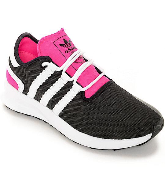 351f8c3047b adidas SL Rise Black   Pink Womens Shoes